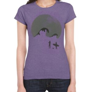 Moongazer Short Sleeve Cotton tee - Purple